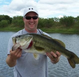 Steve Alexander holds another nice bass caught at San Saba Waco Creek.