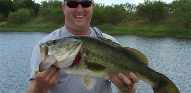 Steve Alexander holds another nice bass caught at San Saba Waco Creek.
