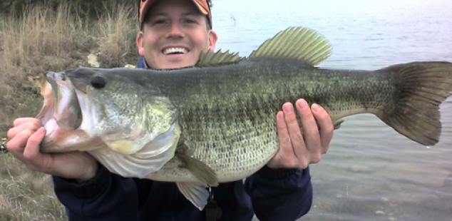 Jayson Dunston holds a 10 lb beauty from Cleburne Six O Ranch