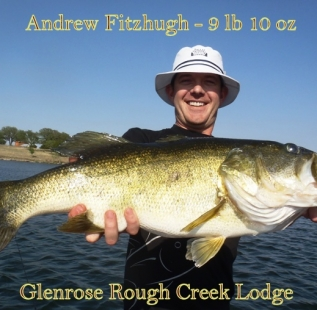 What a fish!  Andrew Fitzhugh caugh this hoss, post spawn at Glenrose Rough Creek Lodge.