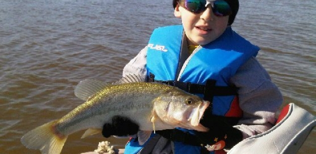 Another nice fish caught by Mark Levocks son at Ferris Triple J Ranch. Way to go buddy!